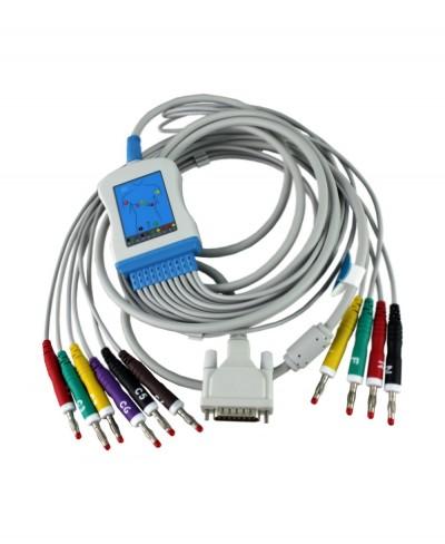 Cavo Ecg 10 Terminali a Banana 4mm per Elettrocardiografi Norav Medical