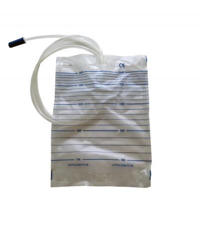 Sacche Urina 2000 Ml Tubo da 90 Cm - Confezione 10 Pezzi