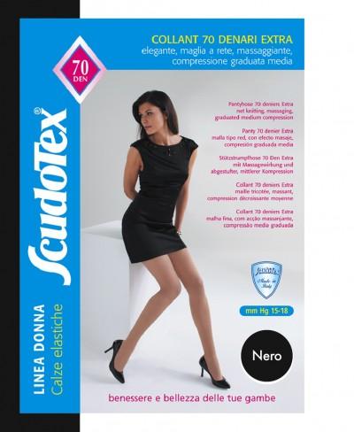 Collant Scudotex 70 Den Nero Mis. 6