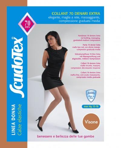Collant Scudotex 70 Den Visone Mis. 6