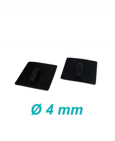 Elettrodo in Silicone Conduttivo Riutilizzabile 50 x 50 mm per Elettroterapia Tens e Ionoforesi Presa Femmina 4 mm - 2 Pezzi