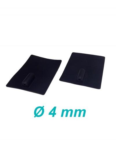 Elettrodo in Silicone Conduttivo Riutilizzabile 60 x 85 mm per Elettroterapia Tens e Ionoforesi Presa Femmina 4 mm - 2 Pezzi