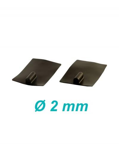 Elettrodo in Silicone Conduttivo Riutilizzabile 60 x 85 mm per Elettroterapia Tens e Ionoforesi Presa Femmina 2 mm - 2 Pezzi