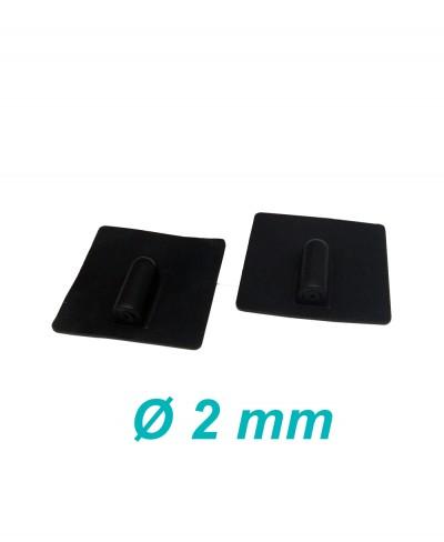 Elettrodo in Silicone Conduttivo Riutilizzabile 50 x 50 mm per Elettroterapia Tens e Ionoforesi Presa Femmina 2 mm - 2 Pezzi