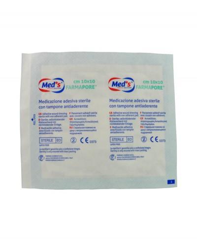 Medicazione Adesiva in Tnt Farmapore Cm 10x10 - Confezione 50 Pezzi
