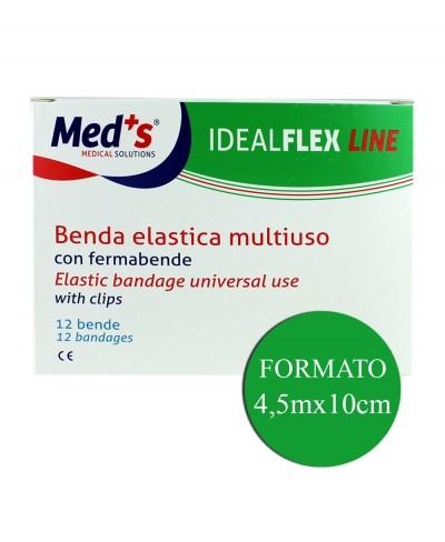 12 Bende Elastiche Multiuso con Fermabende Idealflex 4,5 Metri X 10 Cm - Confezione da 12 pezzi