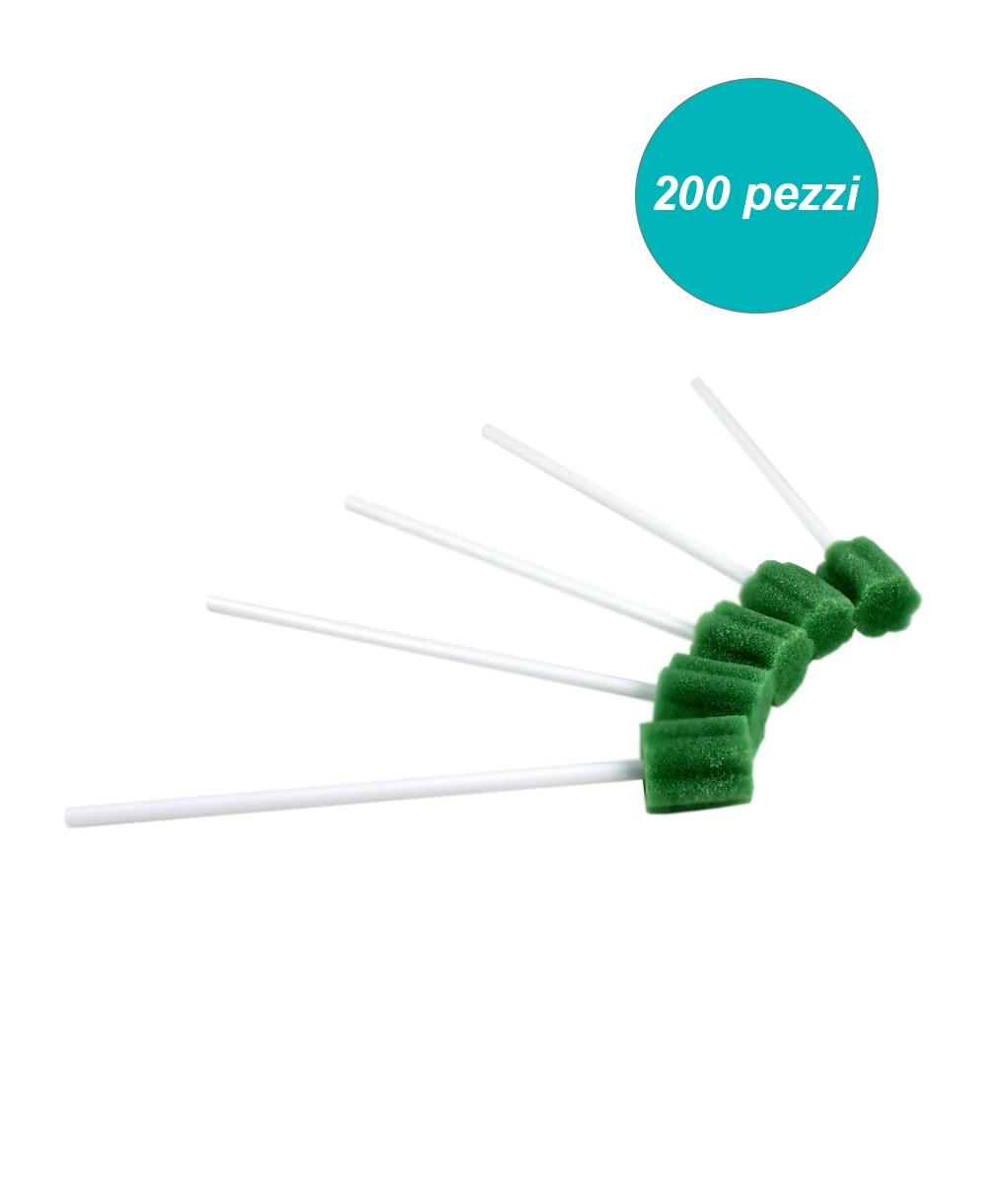 Tampone in Spugna con Rinfrescante per Igiene del Cavo Orale confezione 200 Pezzi
