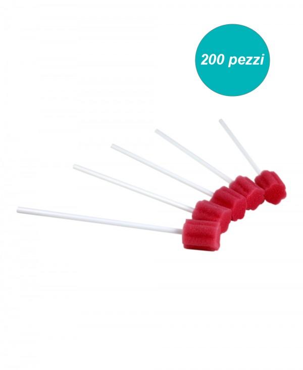 Tampone in Spugna Neutro per Igiene del Cavo Orale confezione 200 Pezzi