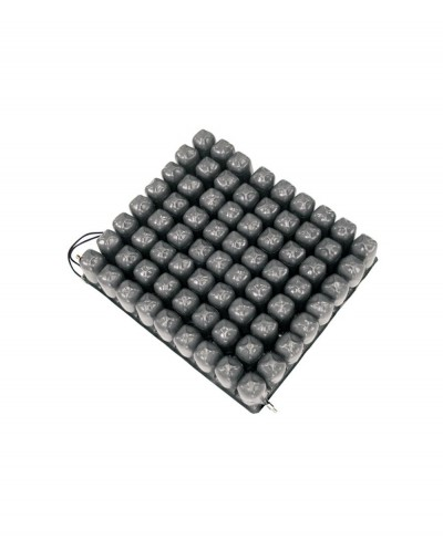 Cuscino Antidecubito a Bolle D'aria in PVC a 2 Valvole - 40 cm x 40 cm x 10 cm