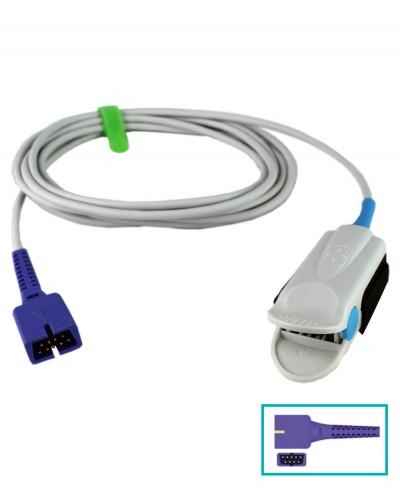 Sensore Spo2 Adulti Compatibile Nellcor DS-100A, Cavo 3 Metri