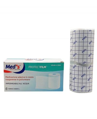 Protect Film Pellicola Adesiva Impermeabile e Trasparente per Medicazioni in Rotolo da 10 metri x 15 cm