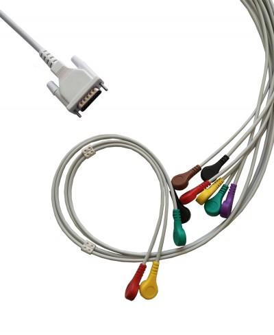 Cavo per Elettrocardiografo 10 Terminali a Bottone per Prove da Sforzo Norav Medical