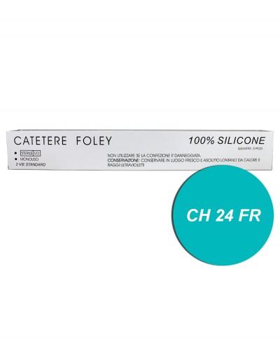 Catetere di Foley in Silicone 2 Vie FR/CH 24 con Palloncino da 5/15 ml