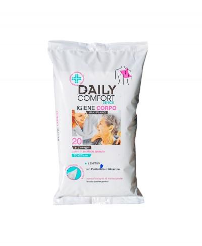 Daily Comfort Senior Igiene Corpo 20 + 4 Omaggio - Panno per Igiene Corpo 20x25 cm