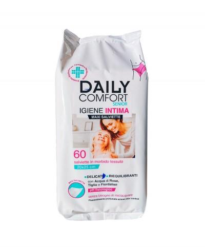 Daily Comfort Senior Igiene Intima 60 Pezzi - Panno Igiene Intima 20x25 cm