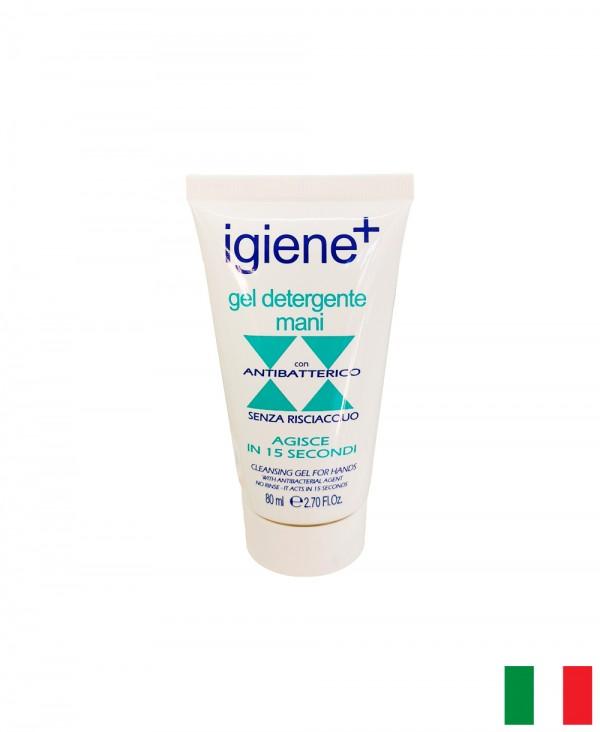 Gel Igienizzante e Detergente per Mani a Base Alcolica 80ml, Agisce in 15 Secondi Senza Risciacquo