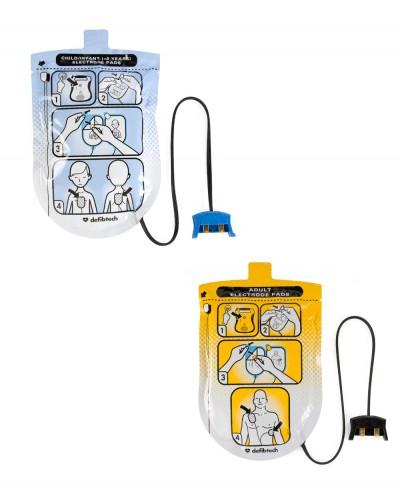 Kit Elettrodi Pediatrici + Adulti per Defibrillatore Defibtech Lifeline
