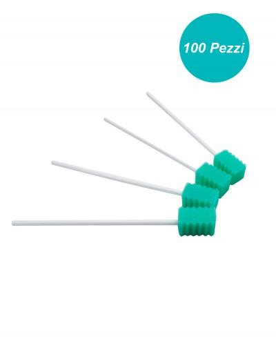 Tampone in Spugna per l'igiene del Cavo Orale Neutro Confezione da 100 pezzi