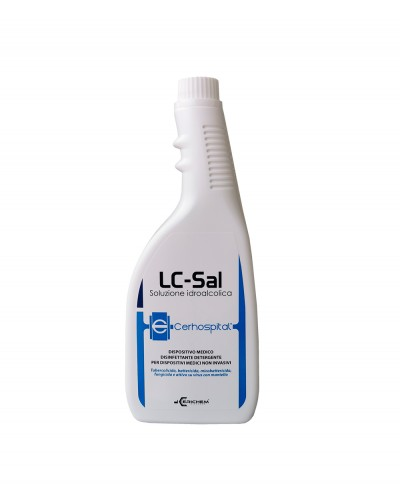 LC-SAL Disinfettante per Superfici a Base Alcolica 750ml con azione Virucida, Sporicida, Battericida, Tubercolicida - 750 ml