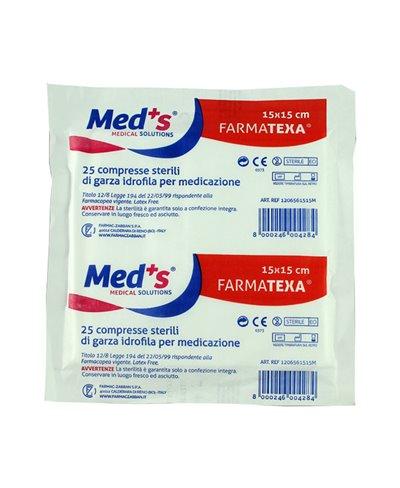 Garza Sterile 15x15 Cm in Cotone Blister 25 Compresse