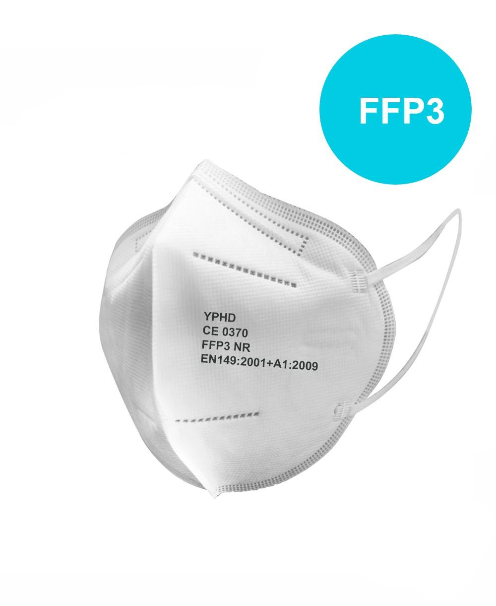 Mascherina Facciale Filtrante FFP3 Efficienza di filtraggio 99% - Certificata CE EN149:2001+A1:2009