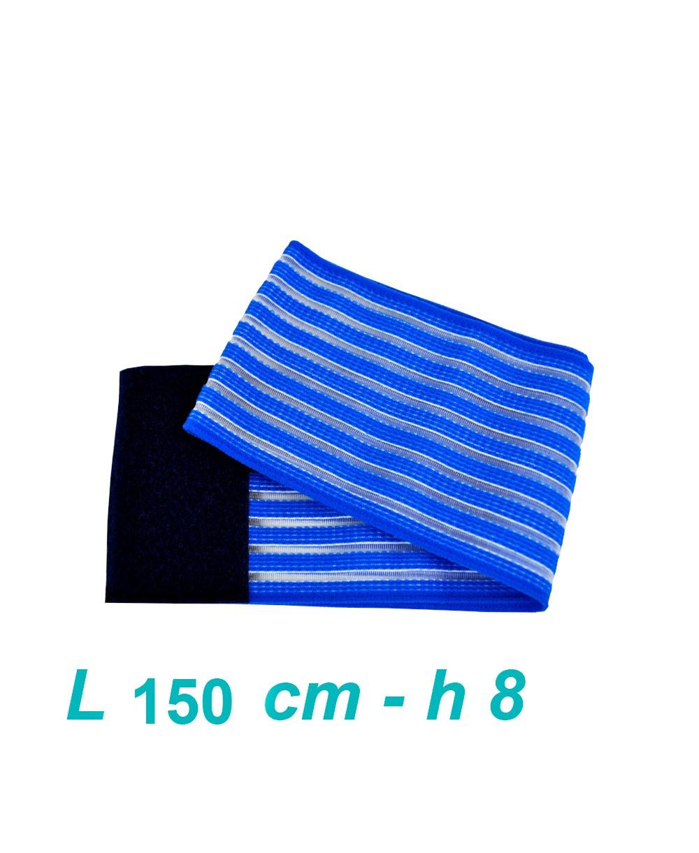 Fascia Elasticizzata Ferma Elettrodi di Elettroterapia e Magnetoterapia Cm 8 x 150