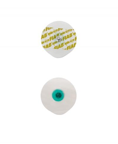 Elettrodo ECG Adesivo Monouso 50 x 48 mm in Gel Liquido Attacco a Bottone - Confezione 50 pezzi
