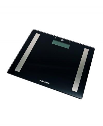Bilancia Elettronica Salter con Indice Massa Corporea e Base in Vetro - Nera