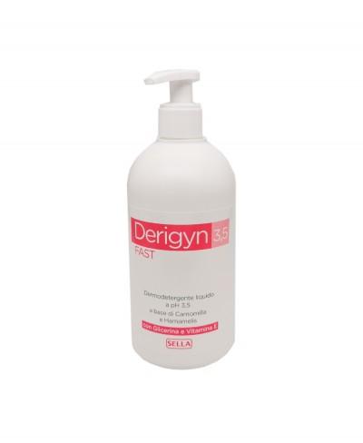 Derigyn 3.5 Con Camomilla e Hamamelis Detergente Liquido a ph 3.5 - 500 ml con dosatore