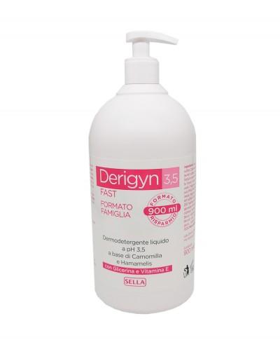 Derigyn 3.5 Con Camomilla e Hamamelis Detergente Liquido a ph 3.5 - 900 ml con dosatore