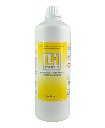 Disinfettante Antisettico per Cute Integra in Soluzione Alcolica LH Incolore 70 - 1000 Ml