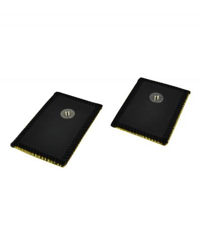 Elettrodo in Daino Sintetico Mm 60 x 45 con Connessione a Bottone Confezione 2 pezzi