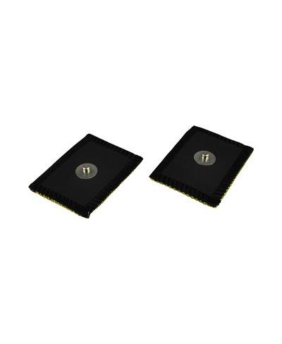 Elettrodo in Daino Sintetico Mm 35 x 45 con Connessione a Bottone Confezione 2 Pezzi