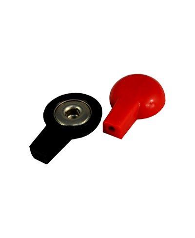 Adattatore con Presa Femmina 2 mm ed Attacco a Clip per Elettrodi a Bottone
