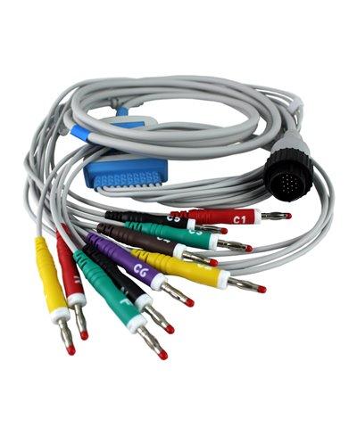 Cavo Ecg 10 Terminali a Banana 4mm Compatibile Cardioline Serie Delta