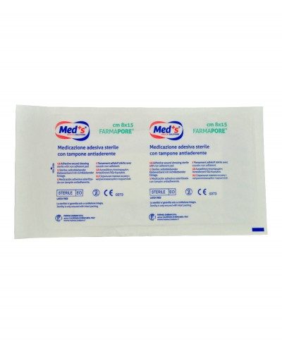 Medicazione Adesiva in Tnt Farmapore Cm 8x15