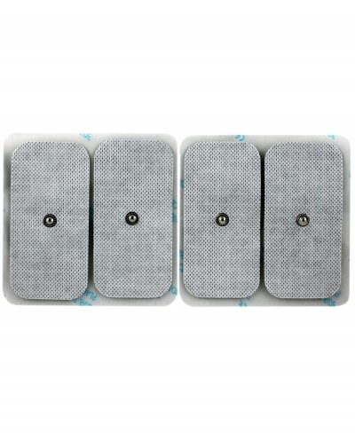 Elettrodo Adesivo a Bottone per Elettrostimolatore 50x100mm Confezione 4 Pezzi