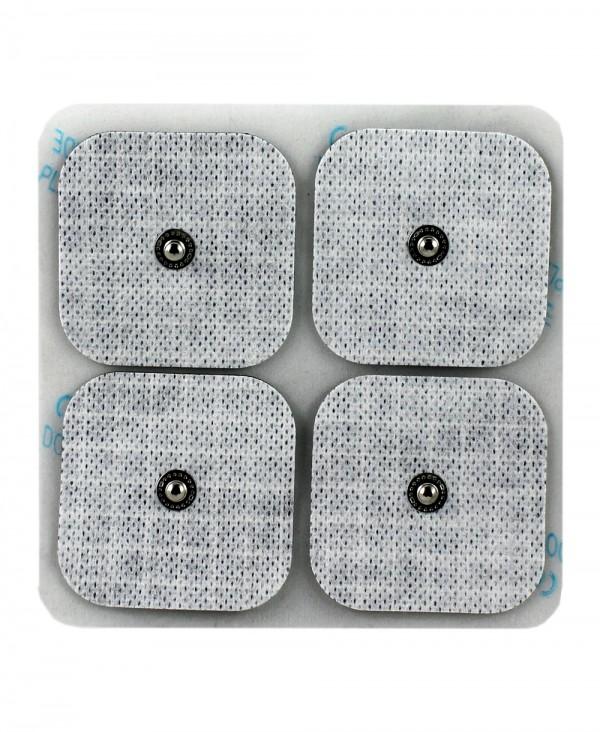 Elettrodo Adesivo a Bottone per Elettrostimolatore 50x50mm Confezione 4 Pezzi