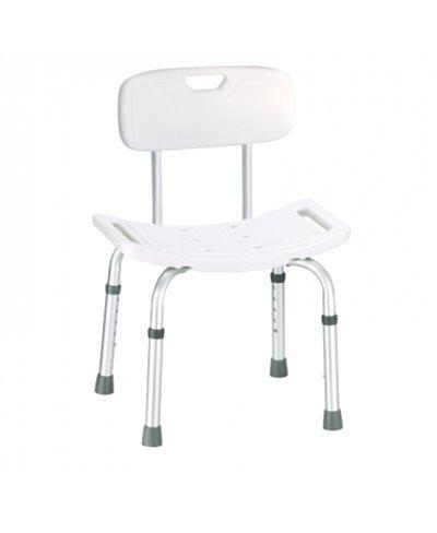 Sedia per Doccia in Alluminio Regolabile in Altezza