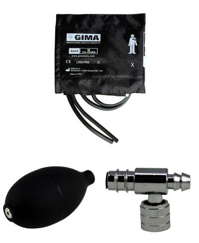 Kit Ricambio Sfigmomanometro Composto da Bracciale Adulti 2 Tubi, Valvola e Pompetta