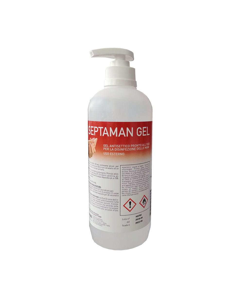 Gel Septaman Antisettico Pronto All'uso 500 Ml
