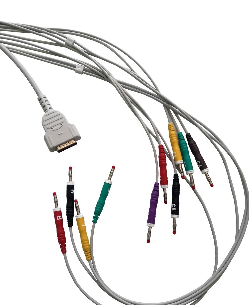 Cavo Ecg 10 Terminali a Banana 4mm Compatibile Ge-marquette Serie MAC